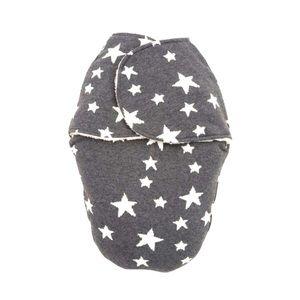 Charcoal Gray Stars Swaddling Blanket